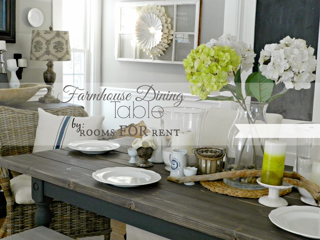 Our New Farmhouse Dining Table