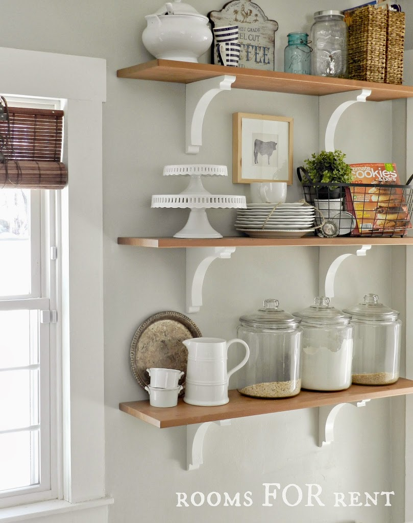 Kitchen Shelves Decorating Ideas: New Paint Color In The Kitchen & New Wall Decor