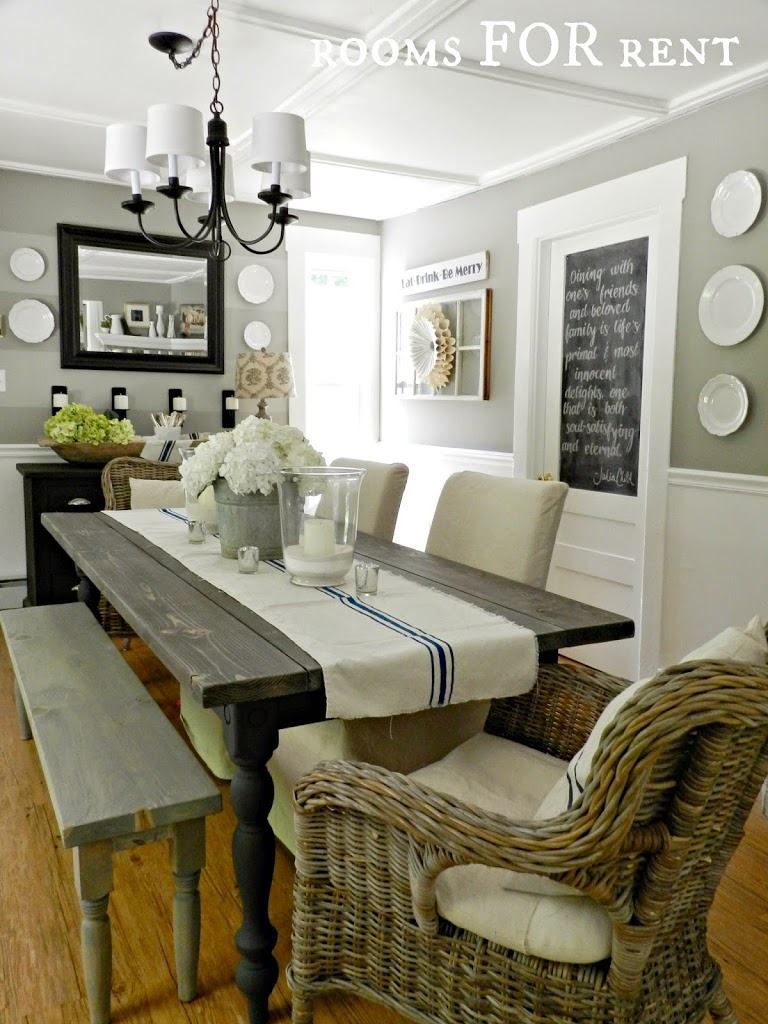 New chandelier in the dining room rooms for rent blog for Dining room ideas in grey