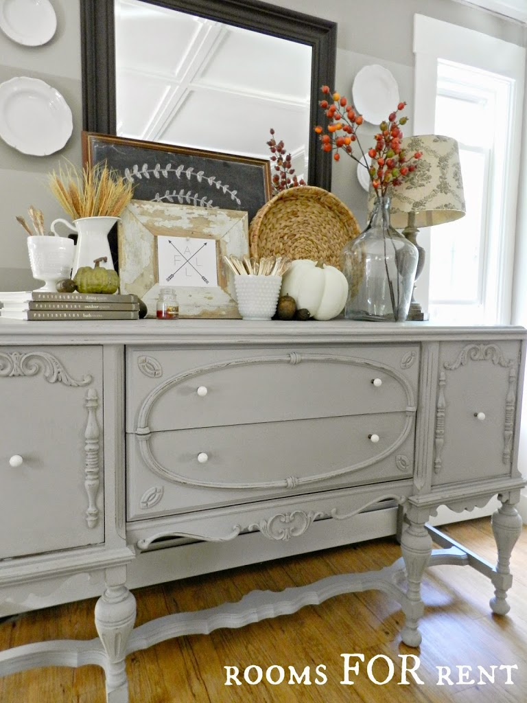 Painted antique buffet reveal rooms for rent blog for Painted buffet sideboard