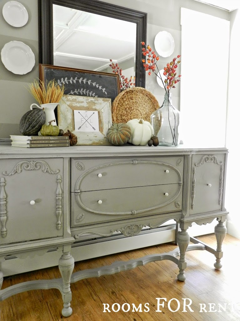 Painted antique buffet reveal rooms for rent blog for Vintage style dining room ideas