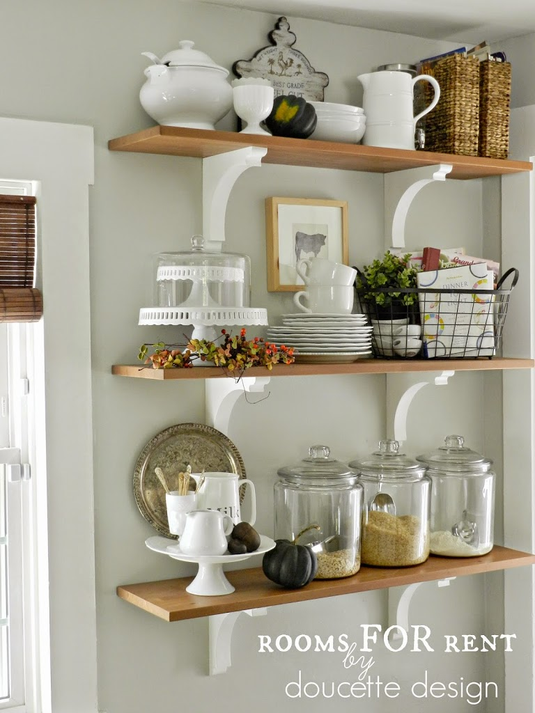 Fall home tour 2014 rooms for rent blog for Kitchen shelves design