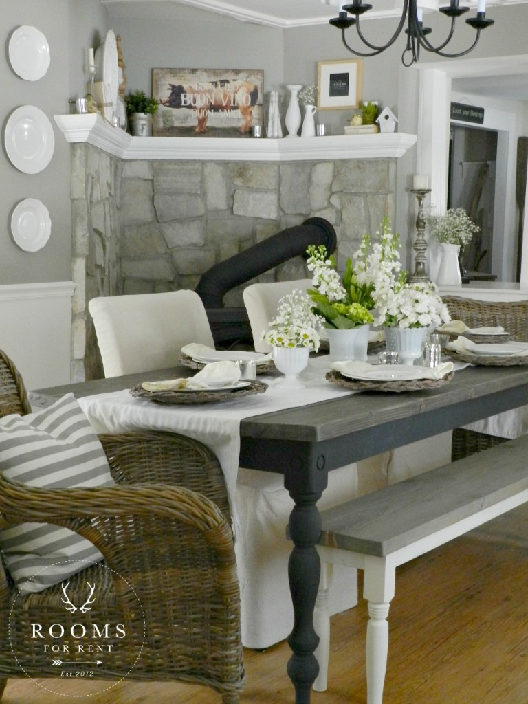 Spring dining room 2015 rooms for rent blog for Country farmhouse blog