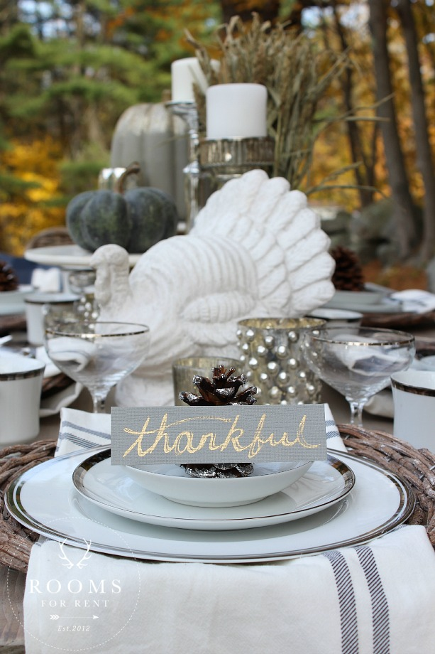 Thanksgiving tablescape tour rooms for rent
