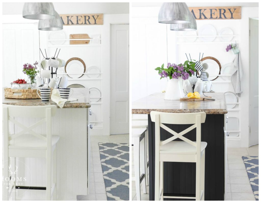 Painted Island Before & After