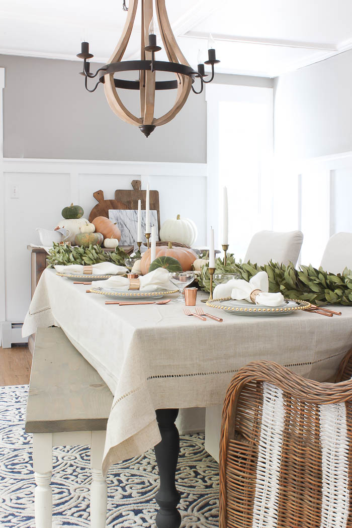 Thanksgiving Tablescape With Bay Leaf Garland Rooms