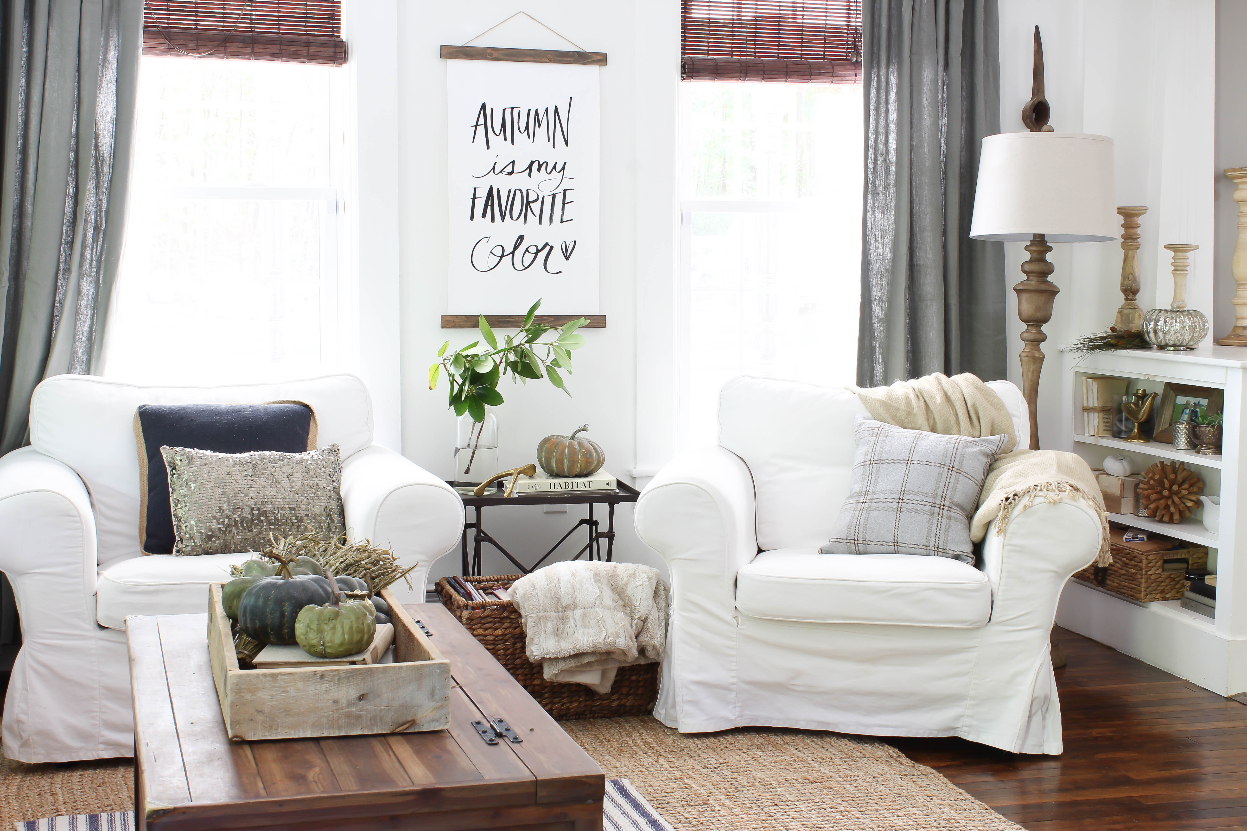 How I Refresh our Living Room for Fall