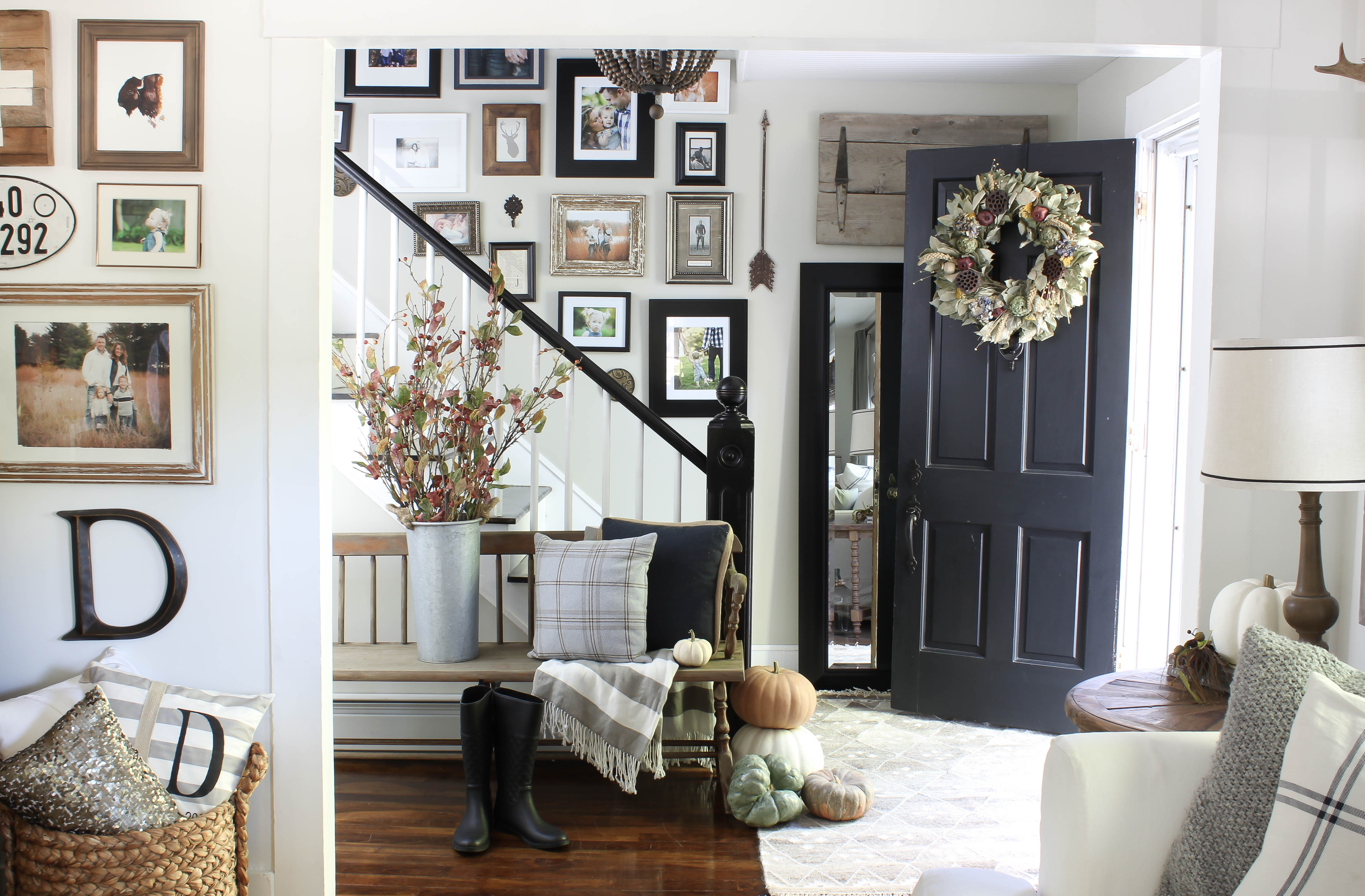 Welcoming Fall Entryway