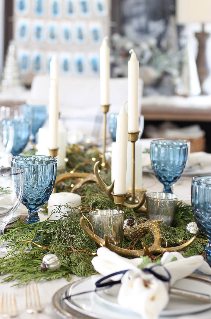 Woodland Winter Tablescape