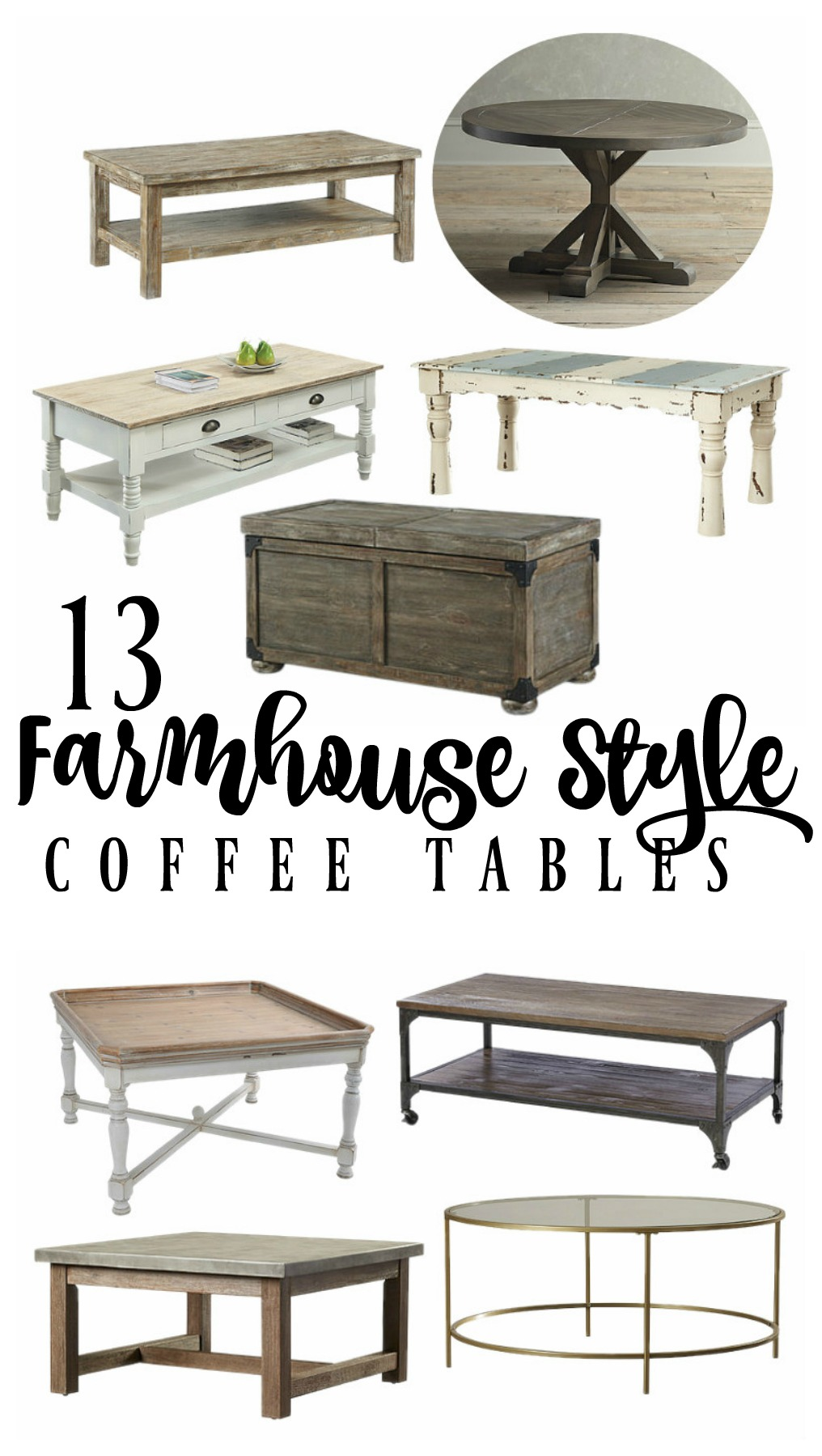 Farmhouse style coffee tables rooms for rent blog Farm style coffee tables