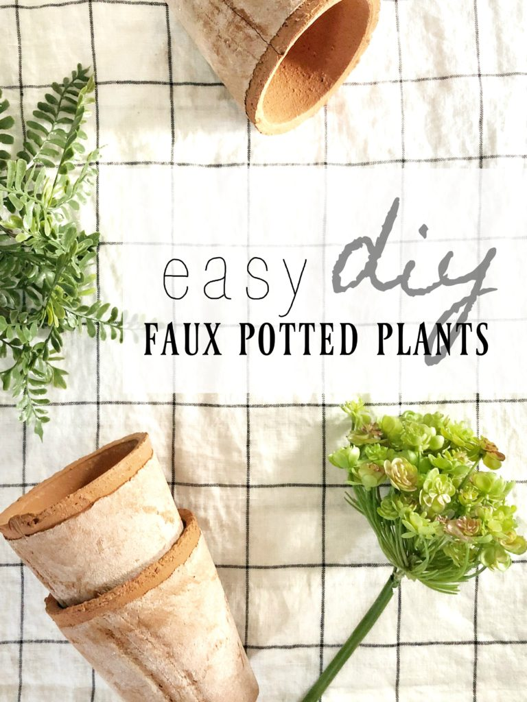 DIY Faux Potted Plants | Rooms FOR Rent Blog