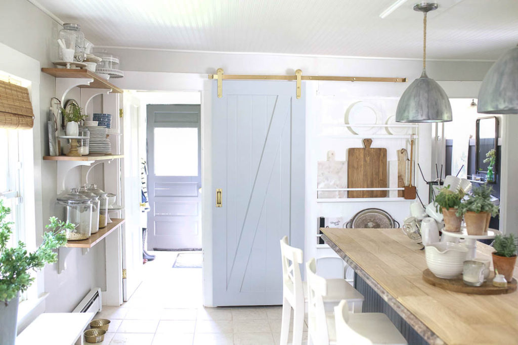 New Barn Door in the Kitchen | Rooms FOR Rent Blog
