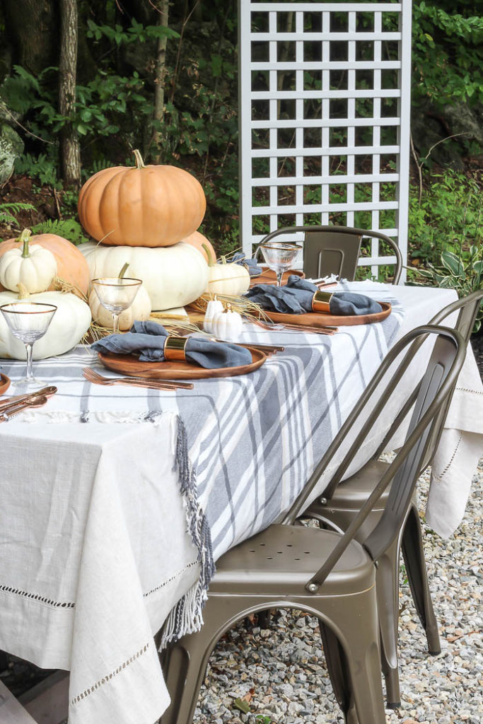 Orange & Gray Fall Tablescape   Rooms for Rent Blog