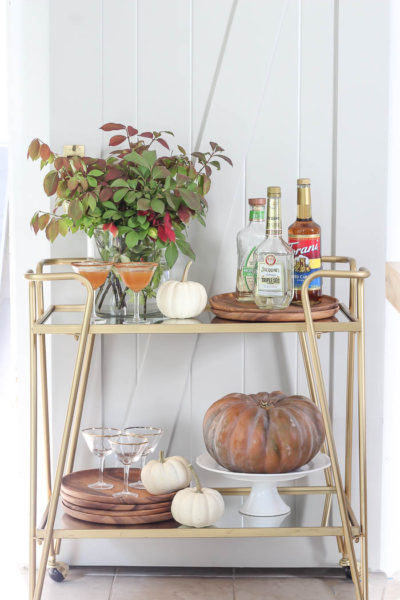 Fall Styled Bar Cart