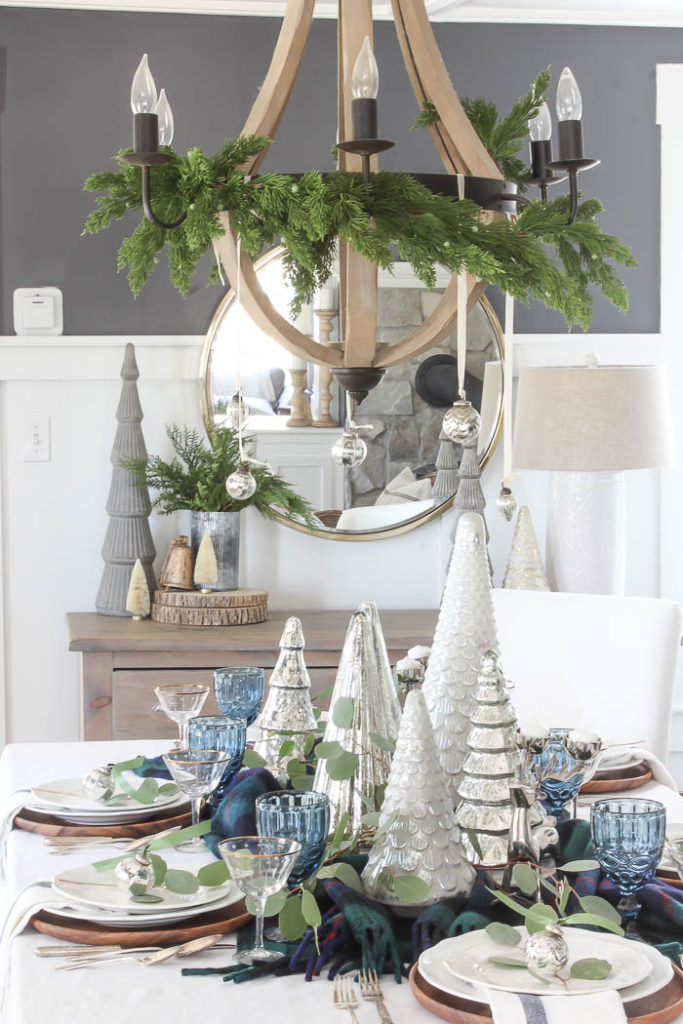 Eclectic Blue Christmas Tablescape {2018} | Rooms FOR Rent Blog