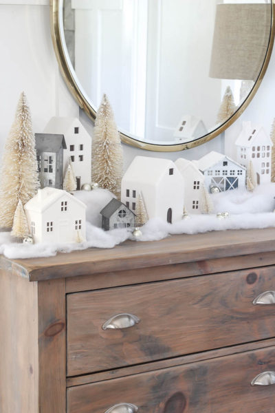 Christmas Village Mantle