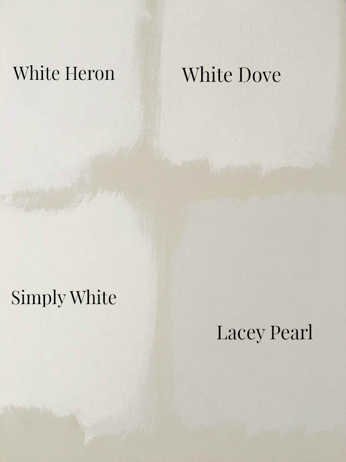 Comparing Diffe Shades Of Benjamin Moore S Most Por Whites How To Pick A White Paint