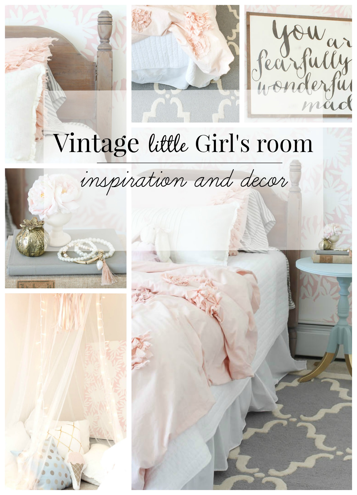 Girls Room: Vintage Little Girls Room Reveal