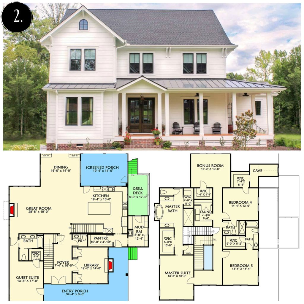 10 Modern Farmhouse Floor Plans I - Rooms For Rent blog on
