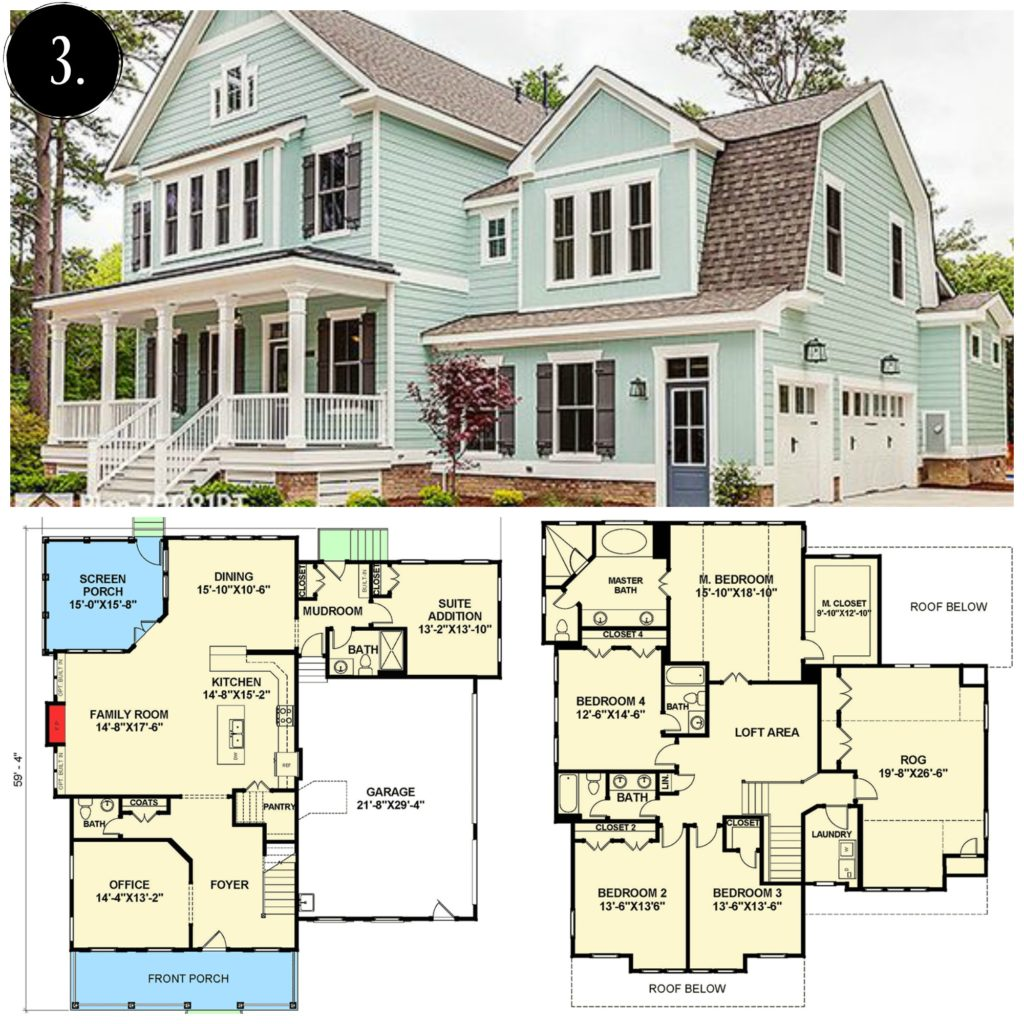 10 Modern Farmhouse Floor Plans I Love - Rooms For Rent blog