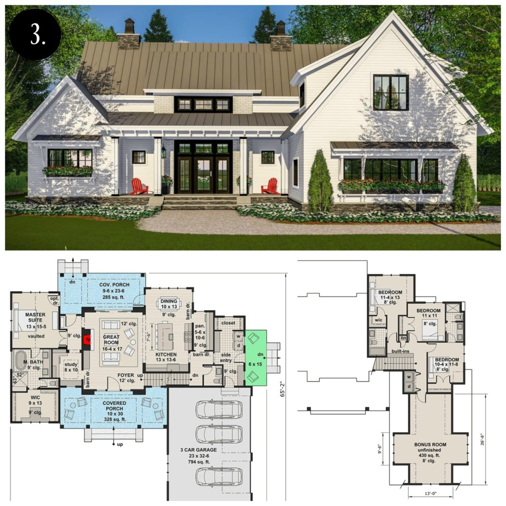 12 Modern Farmhouse Floor Plans - Rooms For Rent blog