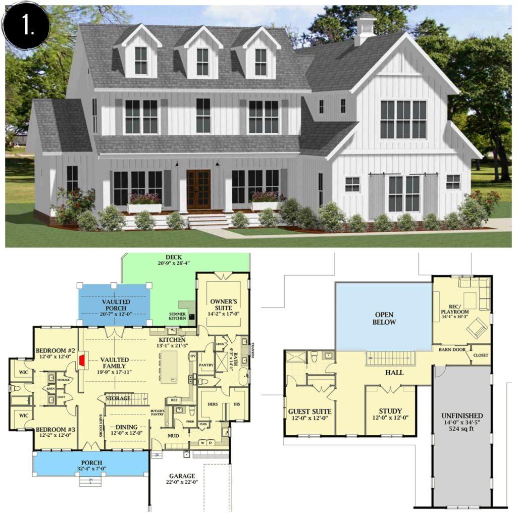 Farmhouse Additions: 10+ Amazing Modern Farmhouse Floor Plans
