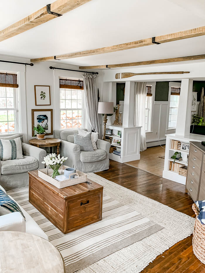 Installing Beams In The Living Room, Wood Beams In Living Room Ceiling